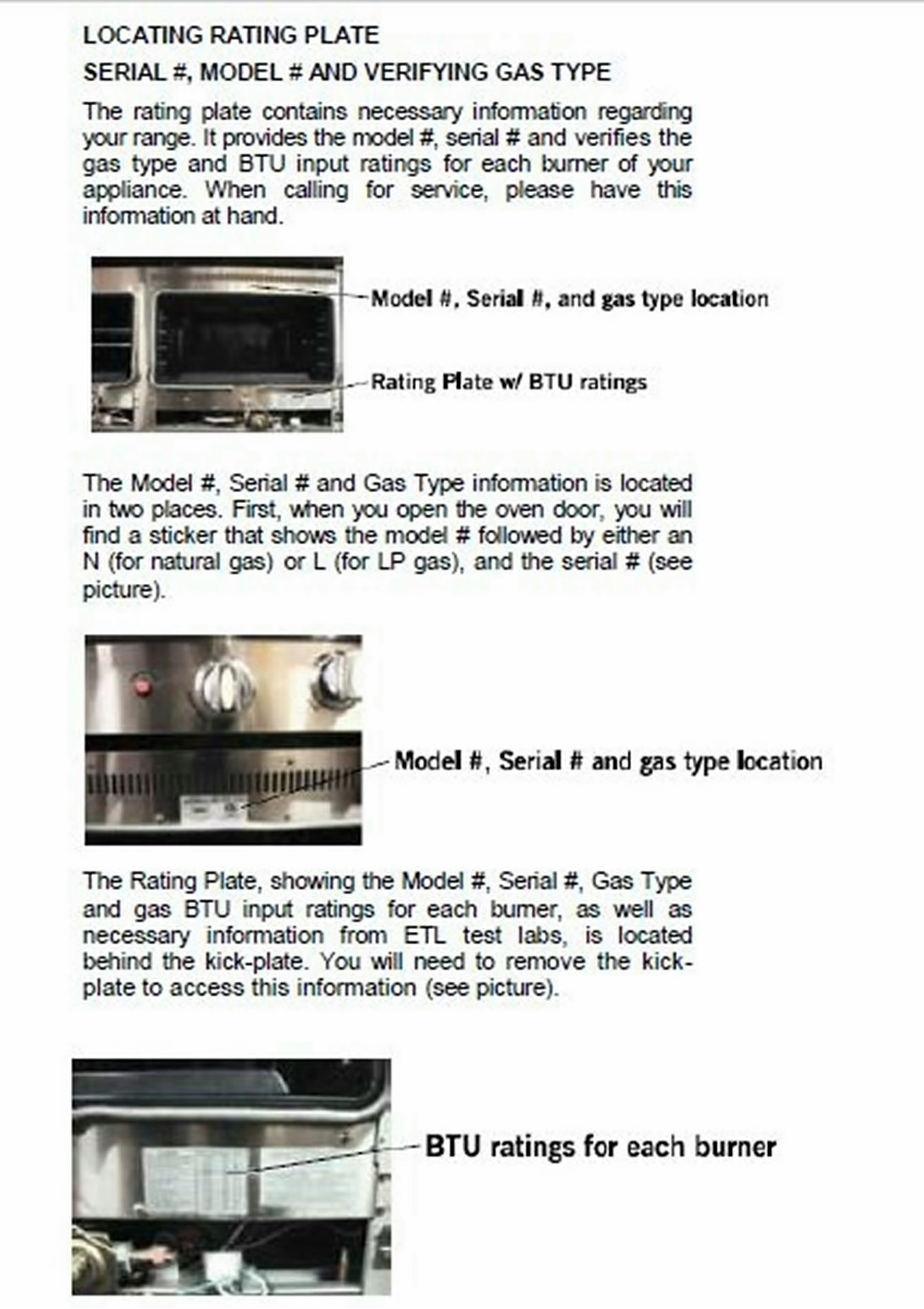 Bertazzoni serial number location in florida
